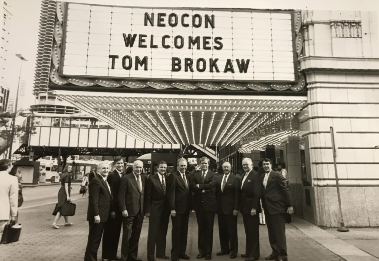 NeoCon 1988_Tom Brokaw_Chicago Theater