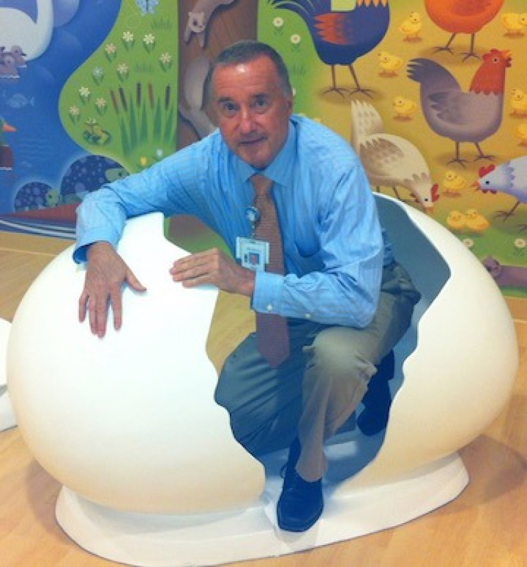 Bruce at Lurie Children's Hospital, 2012.